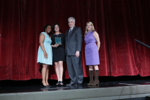 CleanWorld CEO Michele Wong receiving the Project of the Year award!