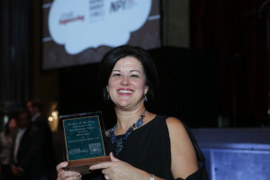 CleanWorld CEO Michele Wong with the Bioenergy Project of the Year Award