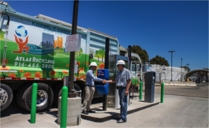 CleanWorld and Atlas Disposal celebrate the first official RNG fueling of waste hauling vehicles from the Sacramento BioDigester